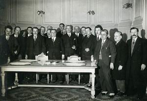 France Paris Veterans Delegation Great Depression Old Meurisse Photo 1930