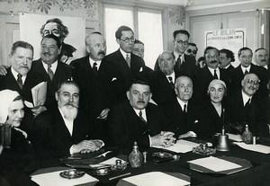Paris Radical Socialist Party Schreiber Benet Herriot Old Meurisse Photo 1930