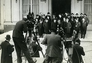 Paris Politics Ministry Paul Boncour Cameras Photographers Photo Meurisse 1933