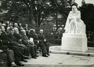 Paris Sorbonne Montaigne Statue Dedication Old Meurisse Photo 1930