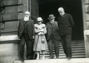 Paris Institut Pasteur M Lacroix, Poincaré, Louis Martin Old Photo Meurisse 1934