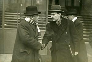 Paris Politics Ministers Camille Chautemps Paul Boncour Old Meurisse Photo 1930
