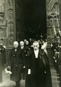 Paris Albert Lebrun King Albert memory Holy Mass Old Meurisse Photo 1934