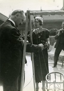 Paris Albert Lebrun rue Figuier Nursery Opening Old Meurisse Photo 1933