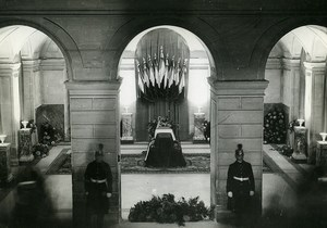 France Paris Death of Paul Painlevé Catafalque Old Photo Meurisse 1933