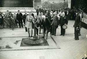 Paris Arc de Triomphe Soldat Inconnu Paul Boncour General Gouraud ancienne Photo Meurisse 1930