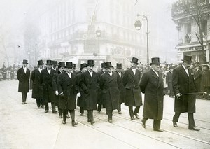 Paris Funerals of Paul Painlevé French Cabinet Old Photo Meurisse 1933
