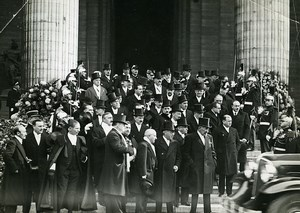 Paris Funerals of Paul Painlevé French Cabinet Deputies Old Photo Meurisse 1933