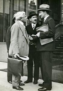 Paris Politiciens Paul Boncour Camille Chautemps Georges Bonnet ancienne Photo Meurisse 1930