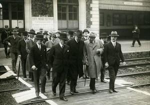 France Rambouillet Ministers Queille Monzie Berthod Old Meurisse Photo 1932
