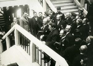 France Foire de Lyon Inauguration Lebrun & Herriot Old Meurisse Photo 1932