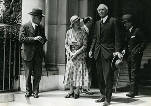 Geneva Politicians Mac Donald & John Simon Old Meurisse Photo 1932