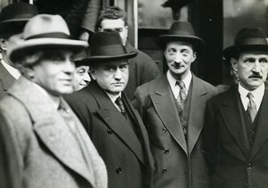 France Politiciens Daladier, Paul-Boncour, Bonnet et Chautemps ancienne Photo Meurisse 1932