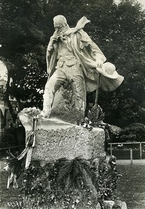 Guernsey Port Statue of Victor Hugo Old Meurisse Photo 1932
