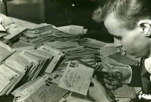 URSS Moscou fabrication du journal La Pravda Courrier des Lecteurs? Ancienne Photo 1947