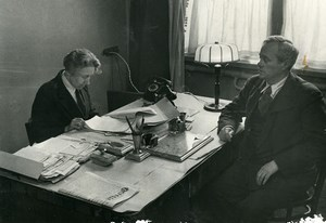 URSS Moscou fabrication du journal La Pravda Bureau ancienne Photo 1947