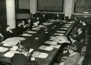 Russia Moscow Pravda newspaper Editorial Meeting Old Photo 1947