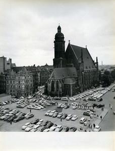 East Germany Leipzig St Thomas Church Thomaskirche Car Park Old Photo 1965