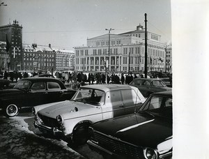 East Germany Leipzig Augustusplatz Jubile Fair Automobiles Old Photo 1965