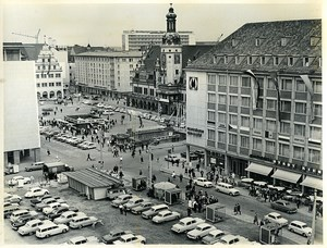 East Germany Leipzig Market Place Car Park Augustusplatz Automobiles Photo 1966