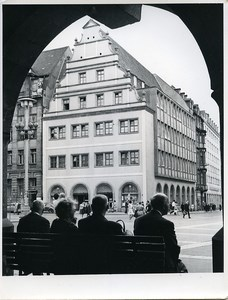 East Germany Leipzig Old Weighing House Alte Waage Market Square Old Photo 1967