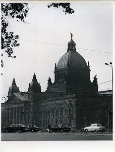 East Germany Leipzig Dimitroff Museum Reichsgerichtsgebäude Cars Old Photo 1968