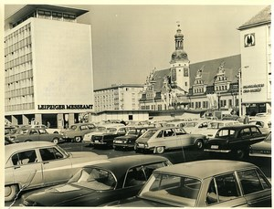 East Germany Leipzig Market Place City Hall Altes Rathaus Old Photo 1971
