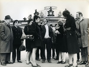 East Germany Potsdam Schloss Sanssouci tourists group from Brussels Photo 1972