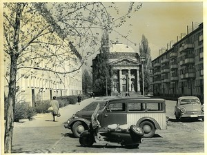 East Germany Potsdam Joliot Curie Street French Church Old Photo 1966