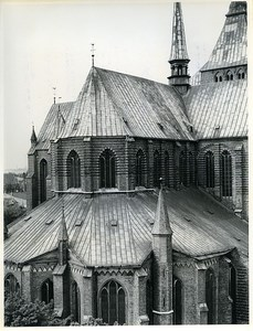 East Germany Rostock St. Mary's Church Marienkirche Old Photo 1966
