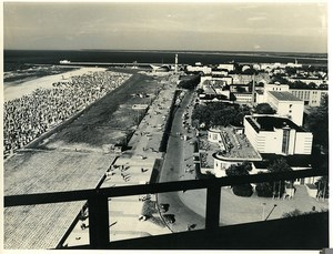 East Germany Rostock View from new hotel Neptun Baltic Sea Old Photo 1971