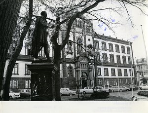 East Germany Rostock University Blucher Monument Old Photo 1969