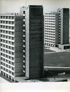 East Germany Rostock new Residential District of Sudstadt Old Photo 1965