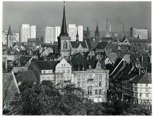 East Germany Erfurt Panorama center city Old Photo 1971