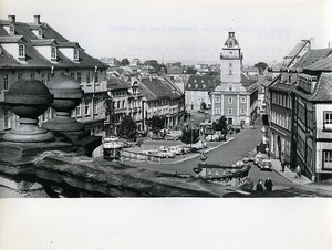 East Germany Gotha door of the Thuringian Market place Old Photo 1969