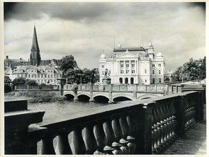 East Germany Schwerin Theater & Cathedral Old Photo 1966