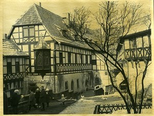 East Germany Wartburg near Eisenach timbered house Old Photo 1967
