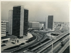 East Germany Halle Thalmann Place Old Photo 1971