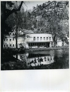 East Germany Oybin Casino in the Mountains of Zittau Honeymoons Old Photo 1966