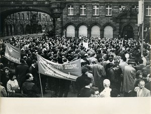 Germany Frankfurt am Main Atomic War Demonstration Old Photo 24 May 1965