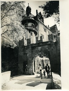 East Germany Castle of Rochsburg Youth Hostel Old Photo 1971