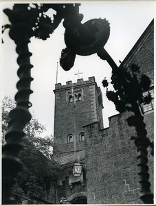 East Germany Wartburg Castle taken from Well of the Dragon Old Photo 1967