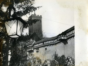 East Germany Wartburg castle Eisenach Martin Luther Old Photo 1965