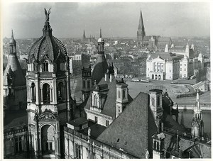 East Germany Schwerin Panorama Old Photo 1967