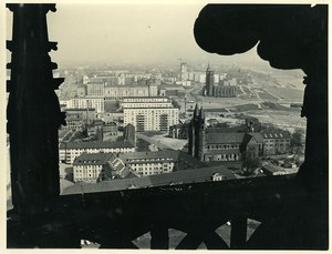 East Germany Magdeburg Panorama from the Cathedral Old Photo 1971