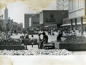 East Germany Magdeburg Busy City Center Old Photo 1967