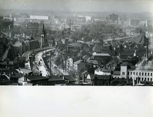 East Germany Halle panorama Old Photo 1971