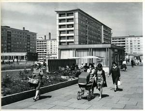 East Germany Chemnitz Wilhelm Pieck Street Karl-Marx-Stadt Old Photo 1968