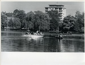 East Germany Chemnitz City Center Lake Karl-Marx-Stadt Old Photo 1968