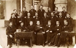 France Amiens Boys Ecole Libre La Providence Christian School Old Photo 1880